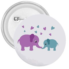 Elephant love 3  Buttons