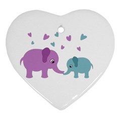 Elephant love Ornament (Heart)
