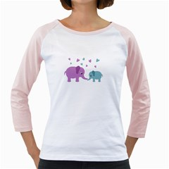 Elephant love Girly Raglans