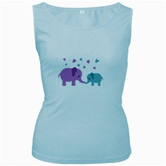 Elephant love Women s Baby Blue Tank Top