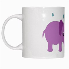 Elephant love White Mugs