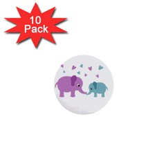 Elephant love 1  Mini Buttons (10 pack)