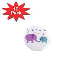 Elephant love 1  Mini Magnet (10 pack)