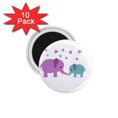 Elephant love 1.75  Magnets (10 pack)