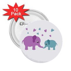 Elephant love 2.25  Buttons (10 pack)