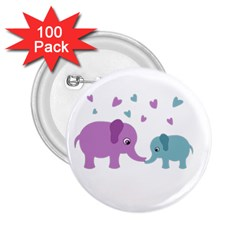 Elephant love 2.25  Buttons (100 pack)