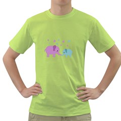 Elephant love Green T-Shirt