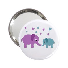 Elephant love 2.25  Handbag Mirrors