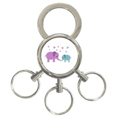 Elephant love 3-Ring Key Chains
