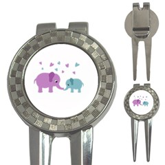 Elephant love 3-in-1 Golf Divots