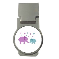 Elephant love Money Clips (Round)