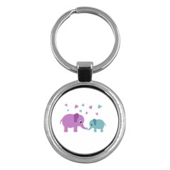 Elephant love Key Chains (Round)