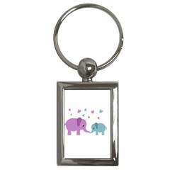 Elephant love Key Chains (Rectangle)