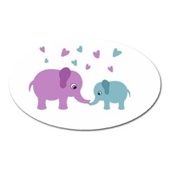 Elephant love Oval Magnet