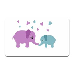 Elephant love Magnet (Rectangular)