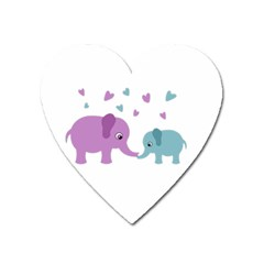Elephant love Heart Magnet