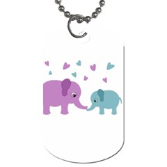 Elephant love Dog Tag (One Side)