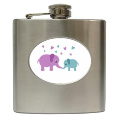 Elephant love Hip Flask (6 oz)