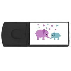 Elephant love USB Flash Drive Rectangular (1 GB)