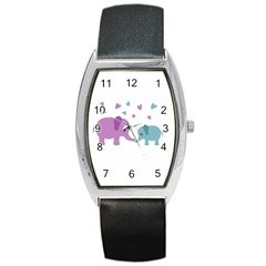 Elephant love Barrel Style Metal Watch