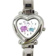Elephant love Heart Italian Charm Watch
