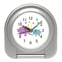 Elephant love Travel Alarm Clocks