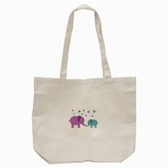 Elephant love Tote Bag (Cream)