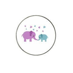 Elephant love Hat Clip Ball Marker (4 pack)