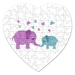 Elephant love Jigsaw Puzzle (Heart)