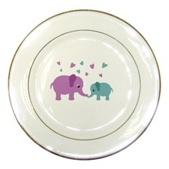 Elephant love Porcelain Plates