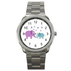 Elephant love Sport Metal Watch