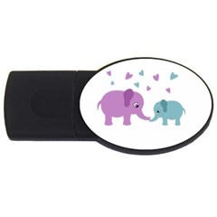 Elephant love USB Flash Drive Oval (4 GB)