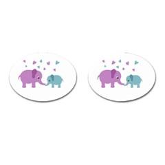 Elephant love Cufflinks (Oval)