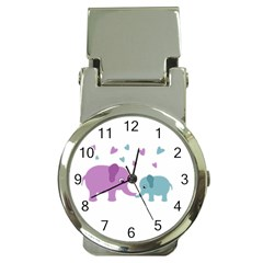 Elephant love Money Clip Watches