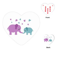 Elephant love Playing Cards (Heart)