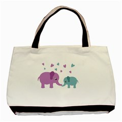 Elephant love Basic Tote Bag