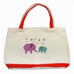 Elephant love Classic Tote Bag (Red)