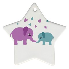 Elephant love Star Ornament (Two Sides)