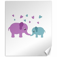Elephant love Canvas 8  x 10
