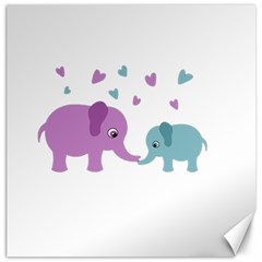 Elephant love Canvas 12  x 12