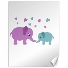 Elephant love Canvas 12  x 16