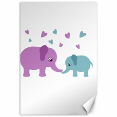 Elephant love Canvas 12  x 18