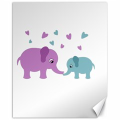 Elephant love Canvas 16  x 20
