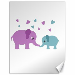 Elephant love Canvas 18  x 24