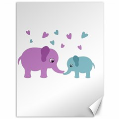 Elephant love Canvas 36  x 48