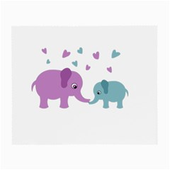 Elephant love Small Glasses Cloth (2-Side)