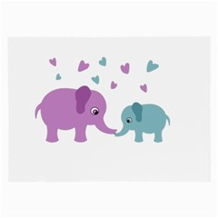 Elephant love Large Glasses Cloth (2-Side)