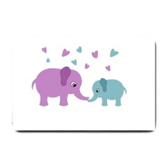 Elephant love Small Doormat