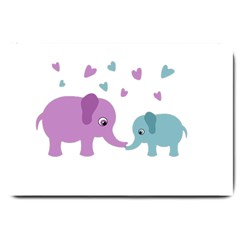 Elephant love Large Doormat