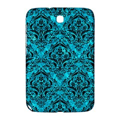 Damask1 Black Marble & Turquoise Marble (r) Samsung Galaxy Note 8 0 N5100 Hardshell Case